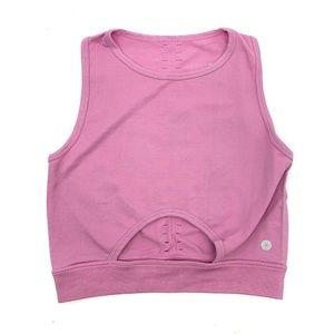 Aura Athletica Pink Sleeveless Crop Tank Top
